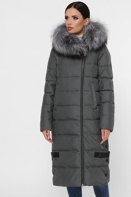 серая куртка на молнии. Куртка М-89. Цвет: 17-хаки