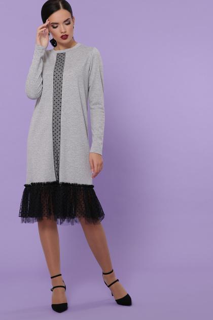 бордовое платье с фатином. Платье Касия д/р. Цвет: серый