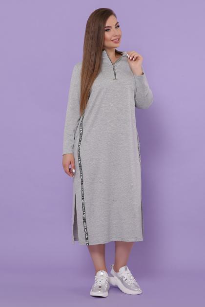 бордовое платье для пышных женщин. платье Джилл-Б д/р. Цвет: серый