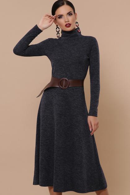 изумрудное теплое платье. Ава платье д/р. Цвет: синий