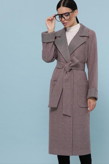 темно-серое шерстяное пальто. Пальто П-347-110. Цвет: 7-т.бежевый