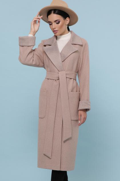 темно-серое шерстяное пальто. Пальто П-347-110. Цвет: 2-песочный