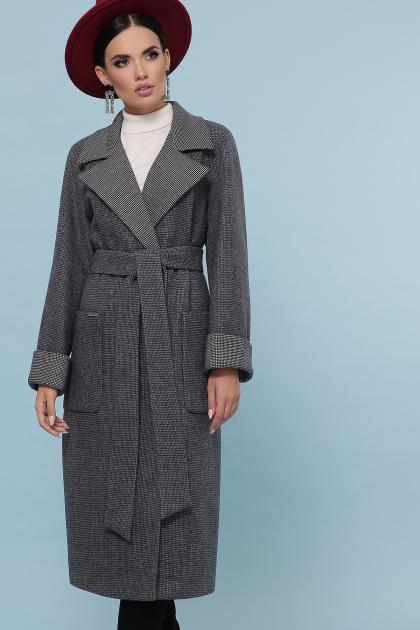 темно-серое шерстяное пальто. Пальто П-347-110. Цвет: 12-т.серый