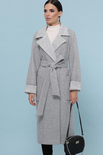 темно-серое шерстяное пальто. Пальто П-347-110. Цвет: 15-св.серый