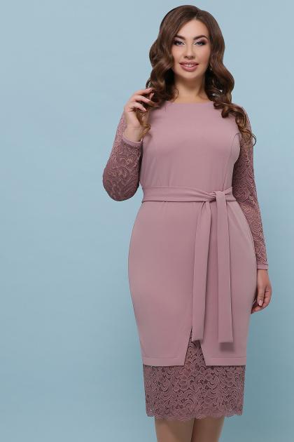 красное платье батал. платье Марика-Б д/р. Цвет: лиловый