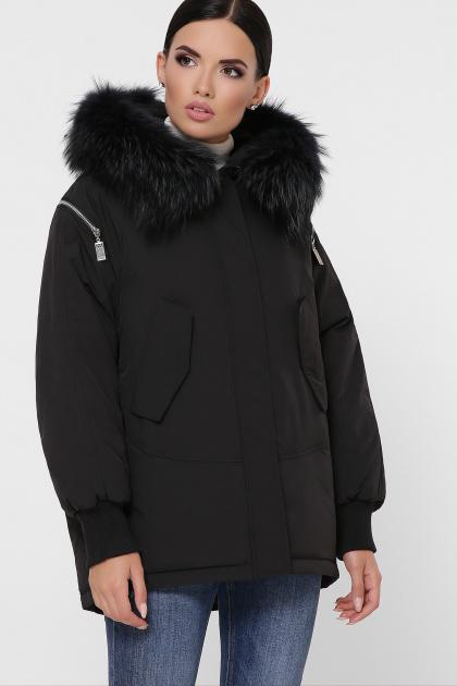 куртка цвета хаки с мехом. Куртка М-74. Цвет: 01-черный
