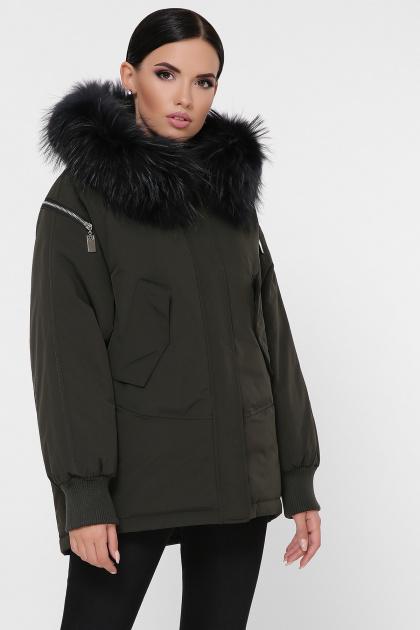 куртка цвета хаки с мехом. Куртка М-74. Цвет: 16-хаки