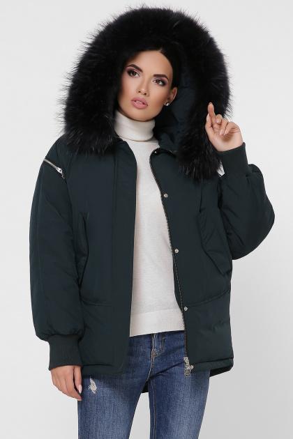 куртка цвета хаки с мехом. Куртка М-74. Цвет: 13-изумруд