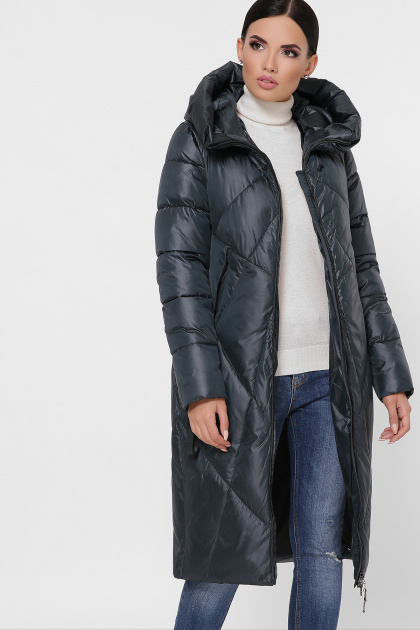 темно-зеленая стеганая куртка. Куртка 9120. Цвет: 03-т.зелёный
