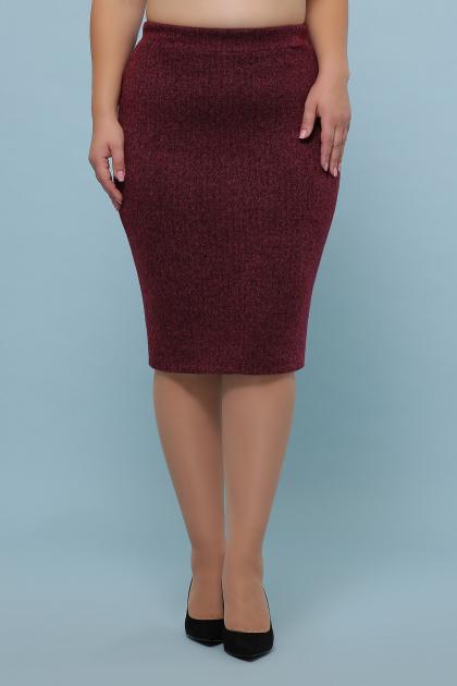 батальная синяя юбка. юбка мод. №20-1 Б. Цвет: бордо