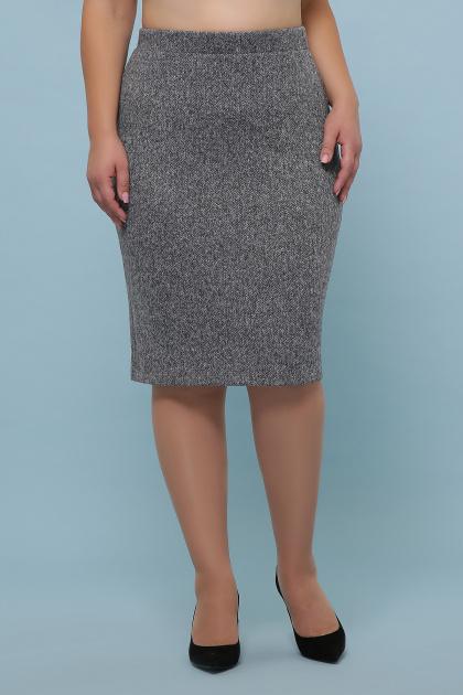 батальная синяя юбка. юбка мод. №20-1 Б. Цвет: серый