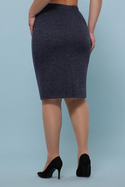 батальная синяя юбка. юбка мод. №20-1 Б. Цвет: синий