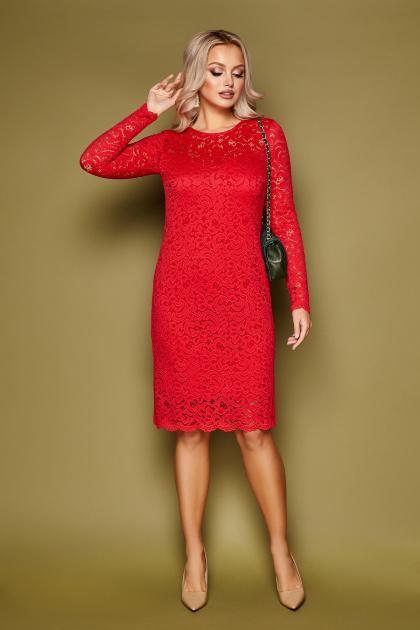 кружевное синее платье. платье Сания д/р. Цвет: красный
