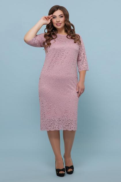 лиловое платье больших размеров. платье Сания-Б 3/4. Цвет: лиловый