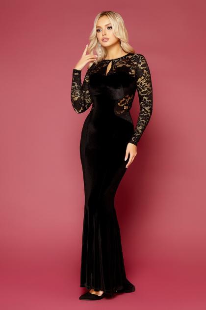 вечернее платье с вырезом на спине. платье Арабелла д/р. Цвет: черный
