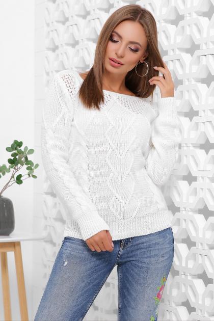 мятный женский свитер. Свитер 160. Цвет: белый
