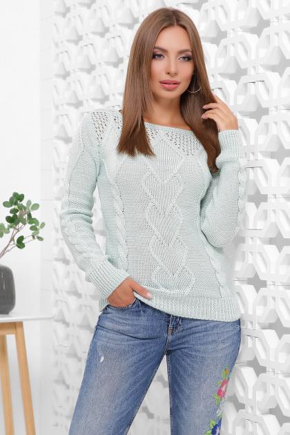 мятный женский свитер. Свитер 160. Цвет: мятный