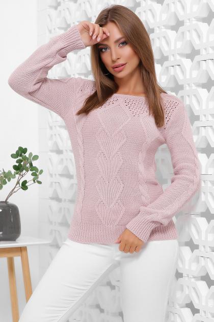 мятный женский свитер. Свитер 160. Цвет: пудра