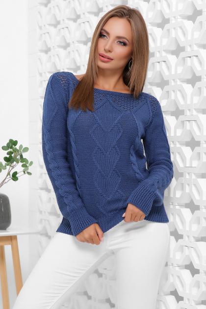мятный женский свитер. Свитер 160. Цвет: синий