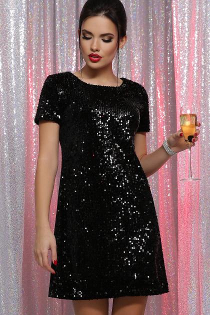 золотистое мини платье. платье Ираида к/р. Цвет: черный-черный