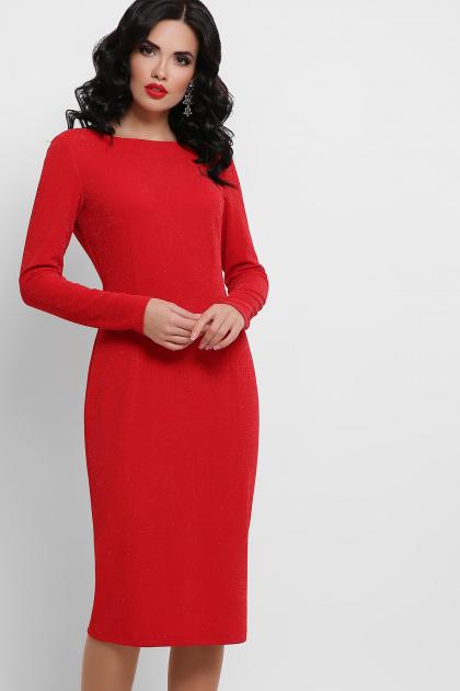 красное платье с открытой спиной. платье Викси д/р. Цвет: красный
