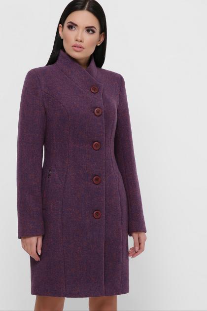 зимнее фиолетовое пальто. Пальто П-333-з. Цвет: 2106-фиолетовый