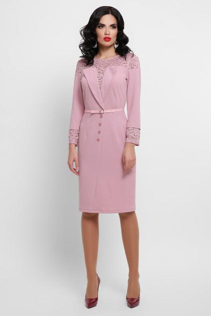 лиловое платье с кружевом. платье Леония д/р. Цвет: лиловый