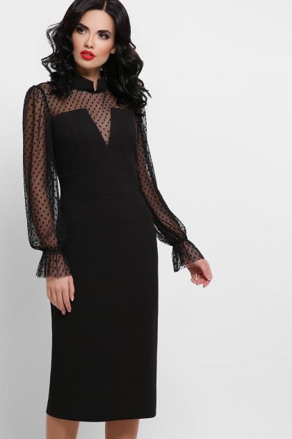 красное платье футляр. платье Лукьяна д/р. Цвет: черный