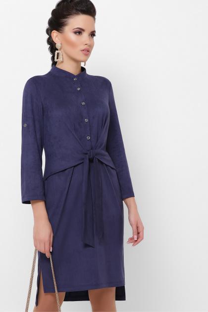 бордовое платье из замши. платье Мерида д/р. Цвет: синий