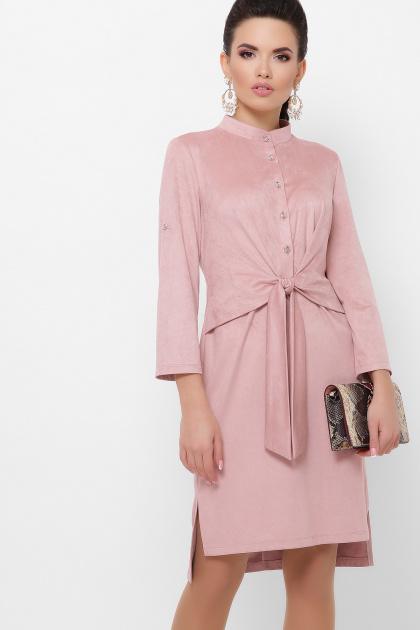 бордовое платье из замши. платье Мерида д/р. Цвет: пудра