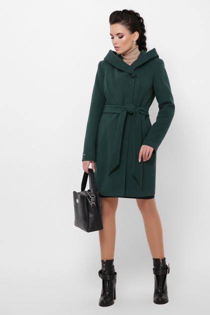 зимнее черное пальто. Пальто П-311 з. Цвет: 7214-зеленый
