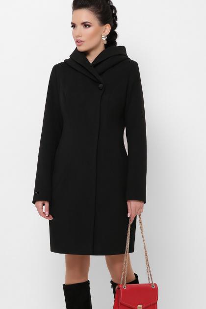 зимнее черное пальто. Пальто П-311 з. Цвет: черный