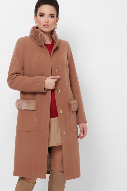 . Пальто П-346-100 з. Цвет: 247- т.бежевый