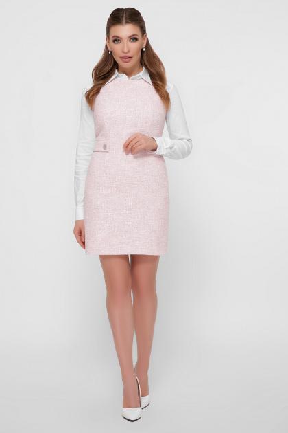 персиковое платье без рукавов. платье Элиана б/р. Цвет: персик