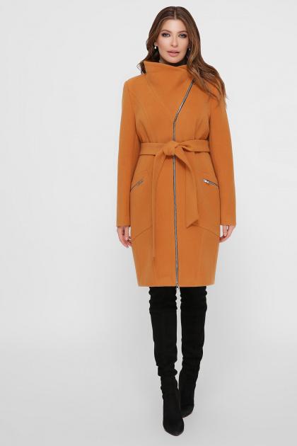 горчичное пальто на молнии. Пальто ПМ-29. Цвет: горчица