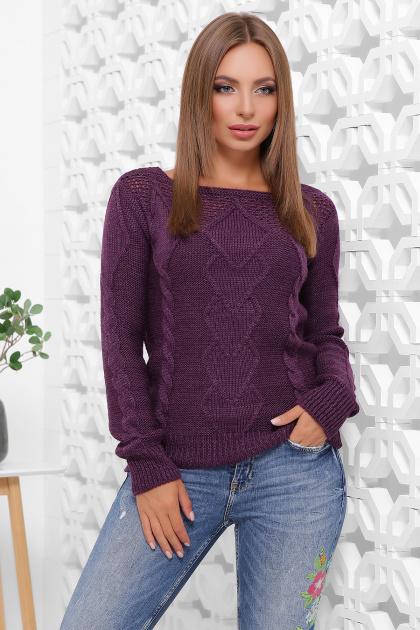 мятный женский свитер. Свитер 160. Цвет: фиолетовый