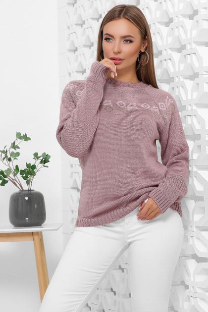 розовый вязаный свитер. Свитер 168. Цвет: фрез