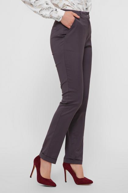 узкие бежевые брюки. брюки Астор. Цвет: графит