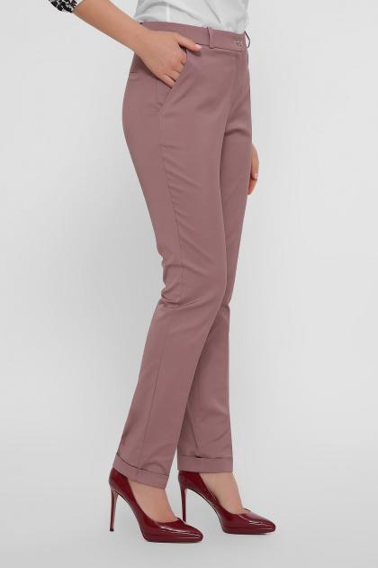 узкие бежевые брюки. брюки Астор. Цвет: лиловый