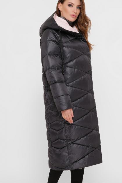 длинная зимняя куртка. Куртка 8230. Цвет: 37- т.графит
