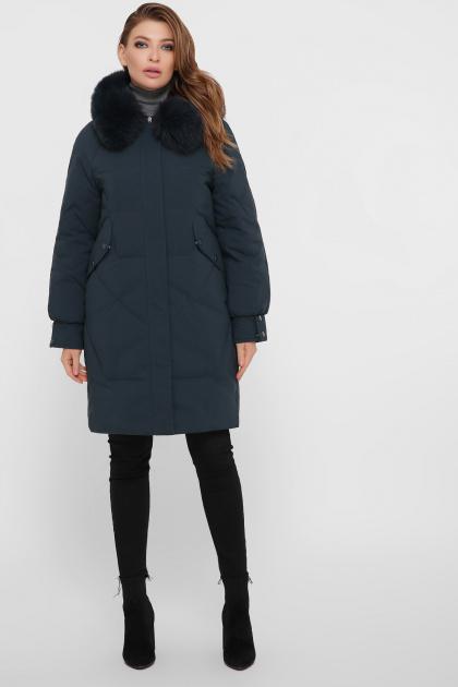 изумрудная куртка с мехом. Куртка М-67. Цвет: 13-изумруд