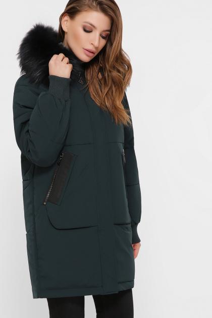темно-синяя куртка на биопухе. Куртка М-78. Цвет: 13-изумруд