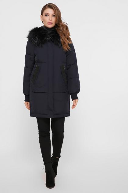 темно-синяя куртка на биопухе. Куртка М-78. Цвет: 14-т.синий