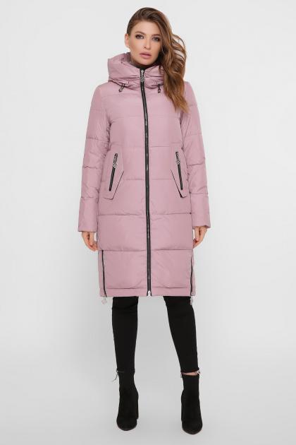 темно-синяя куртка на зиму. Куртка М-109. Цвет: 03-пудра
