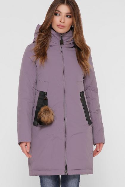 лиловая зимняя куртка. Куртка М-83. Цвет: 26-лиловый