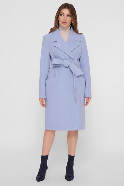 коричневое пальто из кашемира. Пальто ПМ-125. Цвет: 67-голубой