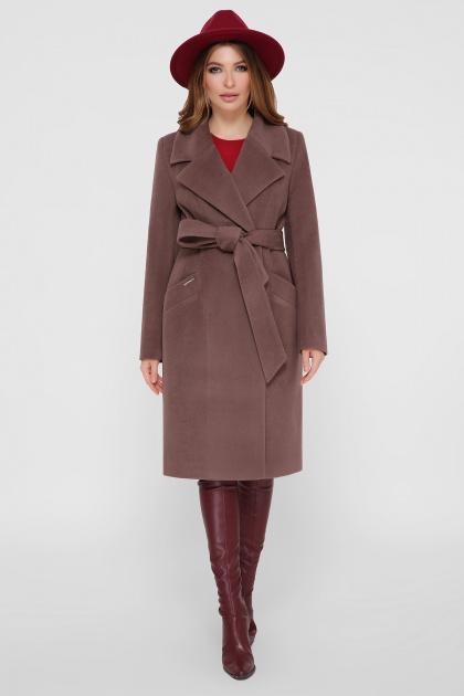 коричневое пальто из кашемира. Пальто ПМ-125. Цвет: 3-коричневый