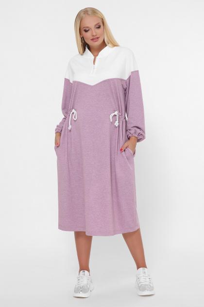 спортивное платье для полных женщин. 0303 Платье спорт. Цвет: розовый