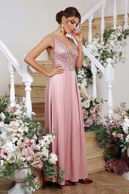 лиловое платье в пол. платье Мэйси б/р. Цвет: лиловый