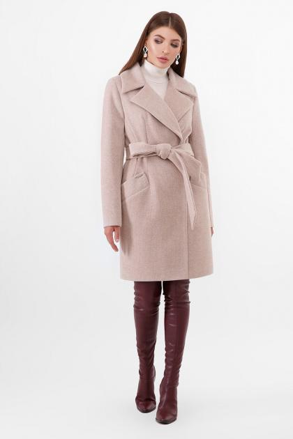 бежевое пальто с поясом. Пальто ПМ-100. Цвет: 30-св.бежевый